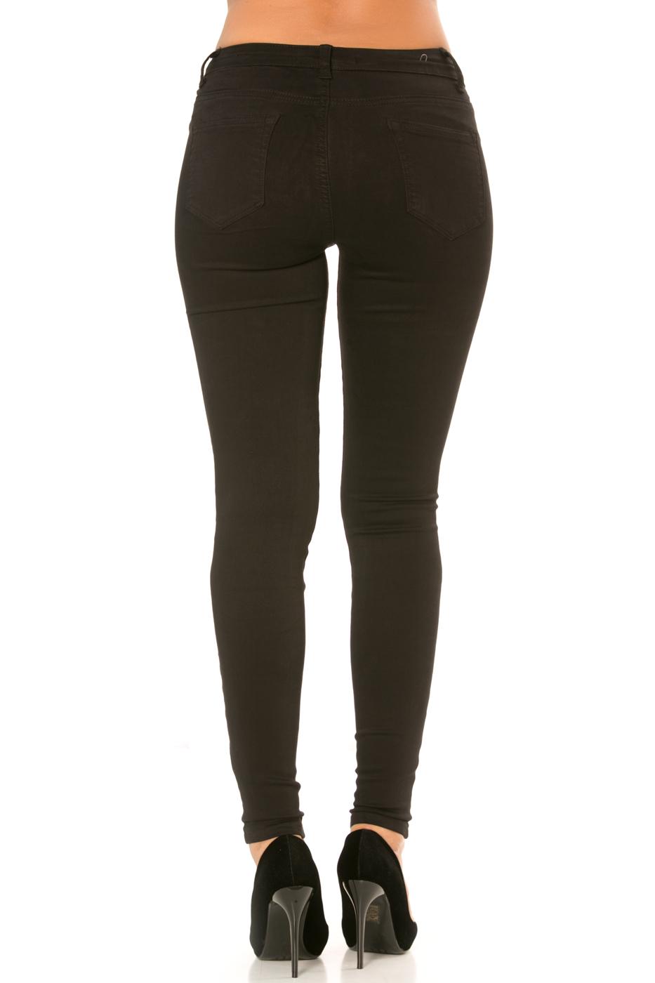 Nina Carter Pantalon noir skinny taille haute super stretch