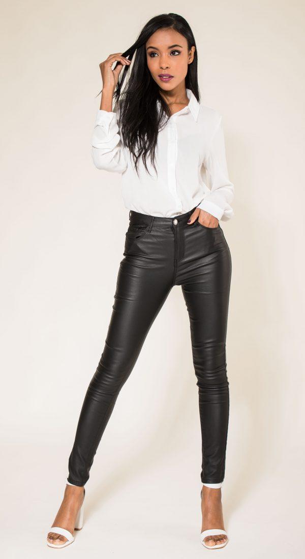 Nina Carter skinny huilé noir