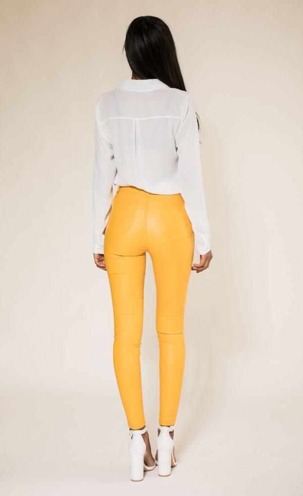 Nina Carter skinny huilé jaune