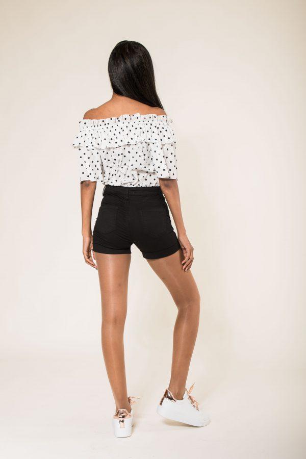 Nina Carter short noir taille haute push up