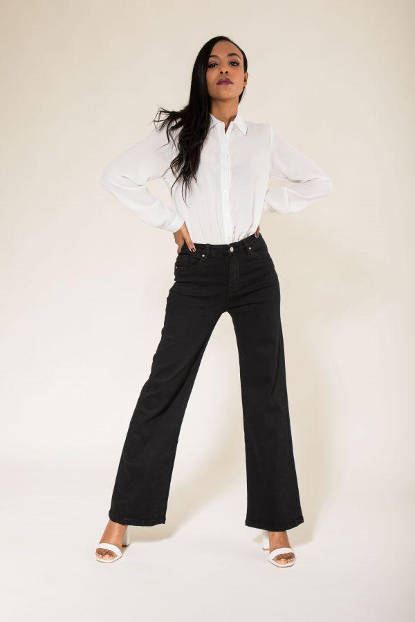 Nina Carter jeans taille haute évasé