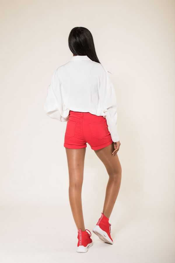 Nina Carter short 5 boutons taille haute
