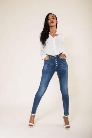Nina Carter jean taille haute slim avec 5 boutons