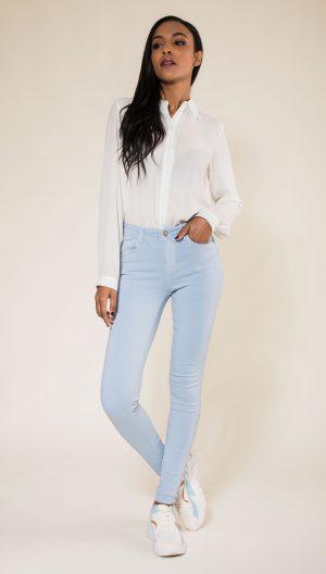 Nina Carter pantalon bleu skinny push up