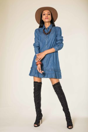 Nina Carter robe tunique jean