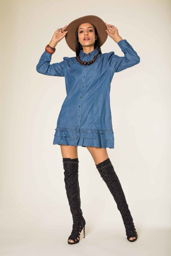 Nina Carter robe tunique en jean