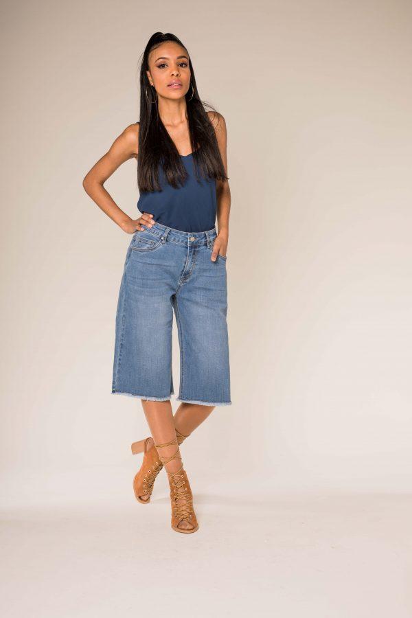 Nina Carter bermuda jean stretch